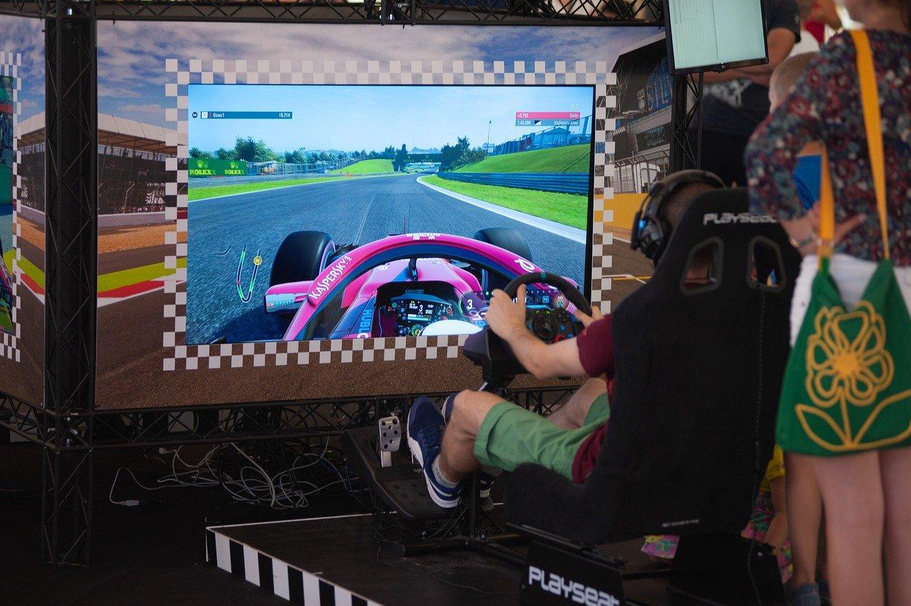 Simulateur de jeu vidéo de voiture